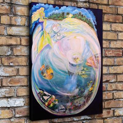 Mermaid Fantasy Color Home Decor Room HD Canvas Print Picture Wall Art Painting