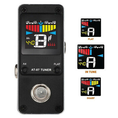 Black AROMA AT-07 Guitar Tuner Mini Single Guitar Effect Pedal Electric Effects