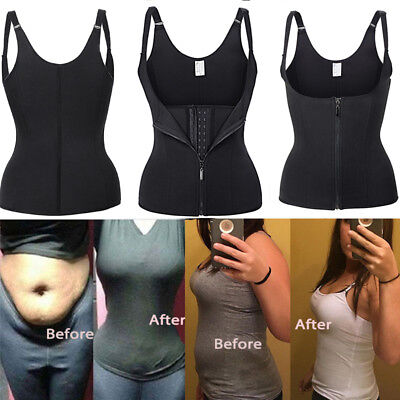 Womens Waist Trainer Corset For Weight Loss Neoprene Body Shaper Vest Sauna Belt
