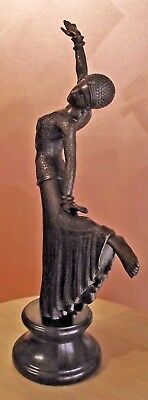 Bronze Statue by Chiparus  Genuine Bronze with Marble Base