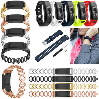 Replacement Silicone/Stainless Steel Strap Band For Garmin Vivosmart HR Tracker