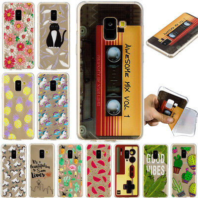 For Samsung Galaxy A6 A8 2018 A3 A5 A7 2017 Silicone Slim Painted TPU Case Cover