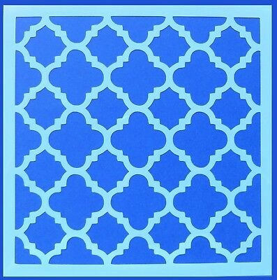 Flexible Stencil *MOROCCAN DESIGN # 2* Pattern Embossing Card Making 14cm x 14cm