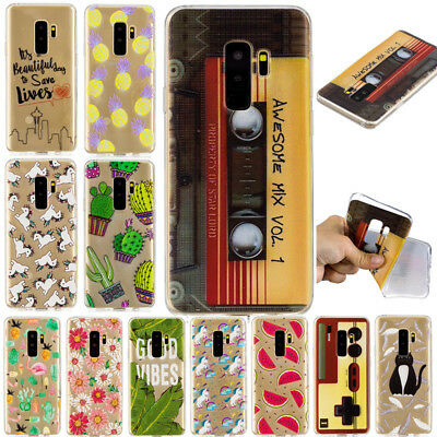 For Samsung Galaxy S7 S8 S9 Note 8 Silicone Slim Painted Soft TPU Case Cover