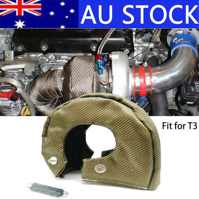 AU! T3 Titanium Turbo Blanket Heat Shield Cover Barrier Turbo Charger Cover Wrap