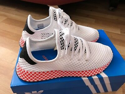 best website 43cb1 4ca72 Adidas Deerupt Runner - Men trainers size UK 9 White-Core Black-Bright Red