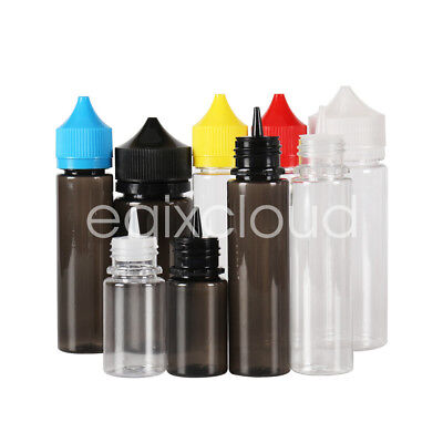 Wholesale 30/60/100/120ml Unicorn Plastic PET Dropper Bottles Double Safe Cap