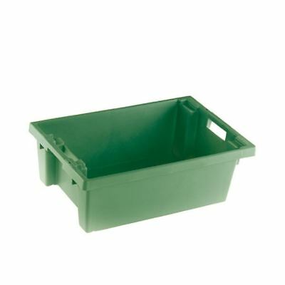 VFM Green Solid Slide Stack/Nesting Container 32 Litre 382961 [SBY24788]