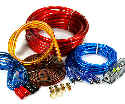 2000W CAR Audio AMP AMPLIFIER POWER WIRING Cable KIT 4 AWG GAUGE 100 AMP
