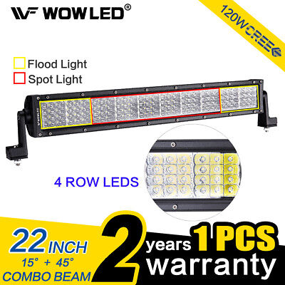 """22"""" 120W 4 Rows LEDs Work Light Bar LED Combo Beam Offroad Driving Lamp Bar 4WD"""