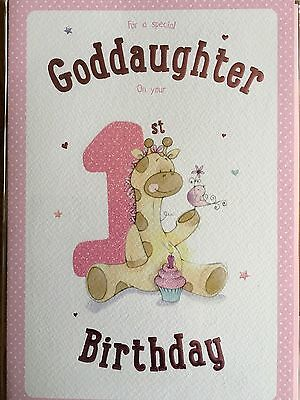 Birthday Card For Goddaughter 100 Picclick Uk