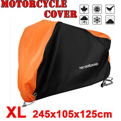 XL 190T Outdoor Waterproof Motorcycle Motorbike Cruiser Scooter Cover Black Red