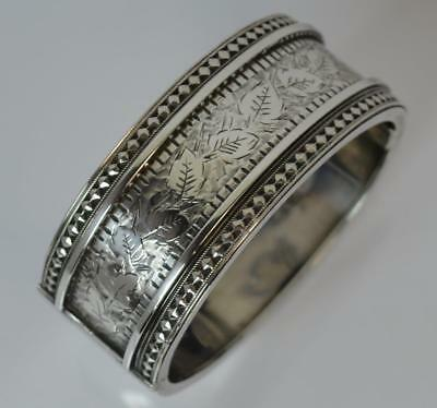 1882 Victorian Aesthetic Period Solid Silver Bangle
