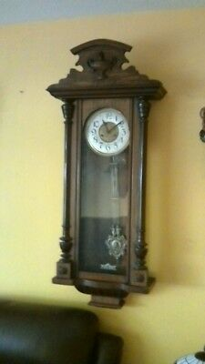 Antique Vienna wall clock nice example