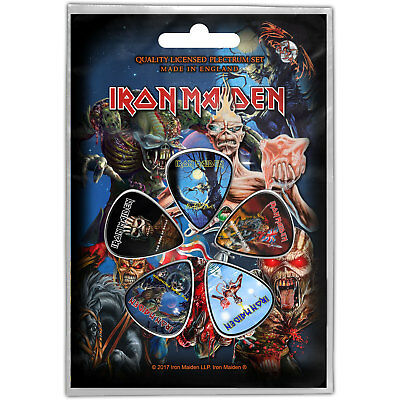 Iron Maiden Later Albums Pack Of Five Plectrum Pack Guitar Official Rock