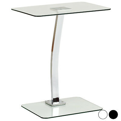 Hartleys Glass Laptop Stand Portable Sofa/Bed Computer Notebook Side Table Tray
