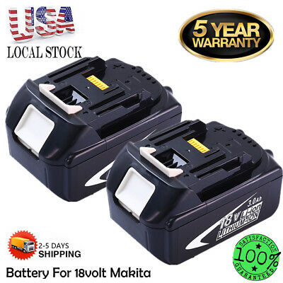2X 18V 3.0Ah 1830B BATTERY LITHIUM ION FOR MAKITA BL1830 LXT HEAVY DUTY REPLACE