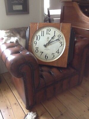 Huge  International Time Recording Boardroom Clock.  Not Gents. 1934. Art Deco.