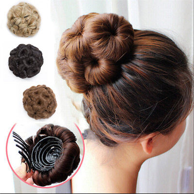Claw Clip In Hair Bun Wave Curly Hairpiece Chignon Updo Cover Hair Extension HCY