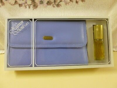 Vtg Aristocrat Fifth Avenue Blue Purse & Heaven Scent Concentrated Cologne*New