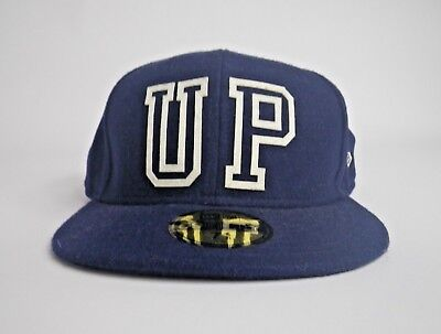 New Era Upper Playground 59Fifty Navy Blue Fitted Hat Cap Size 7 5/8 NWOT