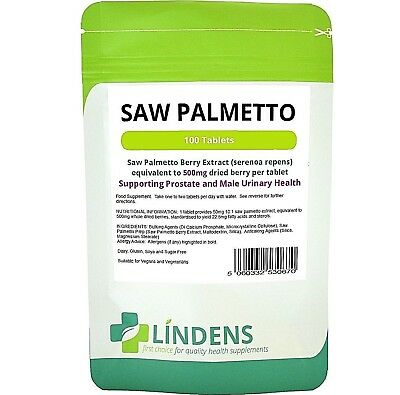 Saw Palmetto 500mg 100-tablets Lindens