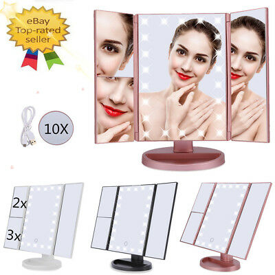 22 LED Light Mirror Make Up Mirror Dressing Table With 2X 3X 10X LED Magnifying