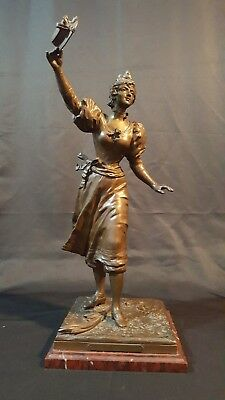 Antique French Bronze Sculpture Le Premie Prix.Signed by C Anfrie(1833 - 1905)