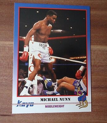 Kayo Card 1991 Boxe Boxing #  Michael Nunn Second To # 202