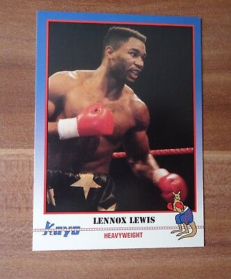 Kayo Card 1991 Boxe Boxing # Lennox Lewis The Lion # 068