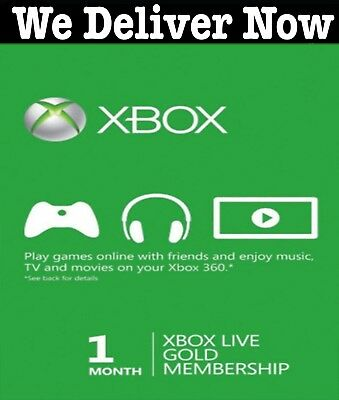 Xbox Live Gold 1 Month Membership for Microsoft Xbox One / Xbox 360 Instant