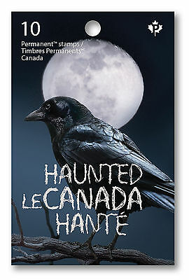 Stamps - Haunted Canada Halloween Booklet - Collectors 2015 10 Canadian