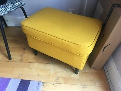 Pleasant Ikea Strandmon Yellow Footstool 40 00 Picclick Uk Theyellowbook Wood Chair Design Ideas Theyellowbookinfo
