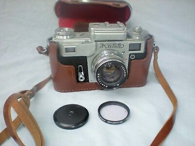Scarce Vintage Kiev Soviet Rangefinder Camera & Case - Excellent Condition