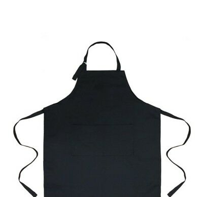 Mainstays Chef's Apron with 2 Pockets, Black 30in x 34in