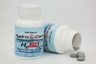 H2GO - Hydrogen Rich Alkaline Water Soluble Tablets