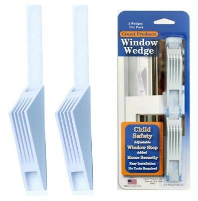 - NEW - Cresci Products Window Wedge - Child Safety Adjustable - (Pack of 2)