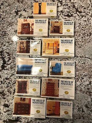 Marvelous X Acto The House Of Miniatures Lot Of 11 Dollhouse Furniture Kits NIB
