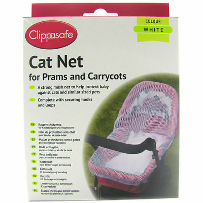Clippasafe Cat Net for Prams & Carrycots in WHITE NEW cat net safety