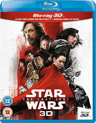 Star Wars: The Last Jedi 3D [Blu-ray] New & Sealed