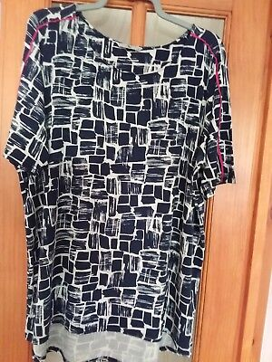 9131726a73d TU (SAINSBURY) LONG tunic top in navy blue and white size 16 - £1.20 ...