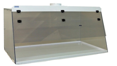 "Cleatech Non Dissipative PVC 36"" Ducted Fume Hood w/ worksurface"