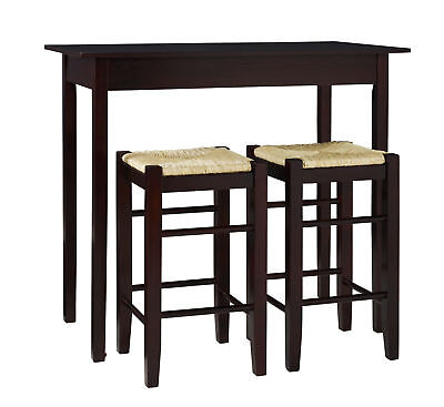 Linon Veneer And Solids Three Piece Table Set With Espresso 02850ESP-01-KD-U