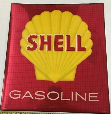 Shell Oil Company Decal For Gasoline Fuel Pump Sticker Red Or Gold Metallic