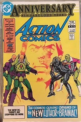 Action Comics #544 1st Appearance of New Braniac & Lex Luther Armor! 45th Ann!