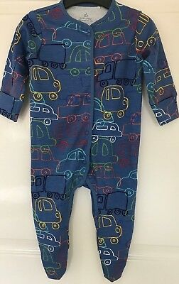 Ex Next Baby Boys Transport Car Blue Sleepsuits Babygrow Age 3 6 9 12 18 Months