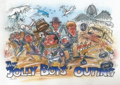 Only Fools and Horses The Jolly Boys Outing Artwork POSTER