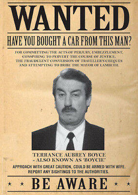 Only Fools and Horses Boycie Wanted Poster