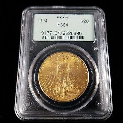 1924 Saint Gaudens American Gold $20 Double Eagle PCGS MS64 20 Dollar DX6806