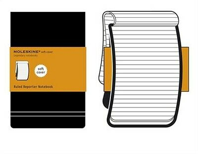 Moleskine Reporter Notebook, Pocket, Ruled, Black, Soft Cover (3.5 X 5.5) (Diary